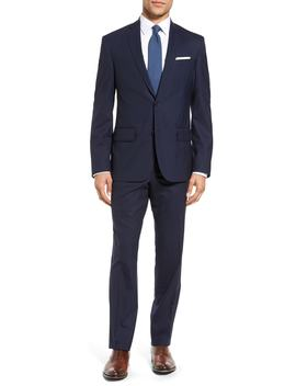 Tech Smart Trim Fit Solid Stretch Wool Travel Suit by Nordstrom Men's Shop