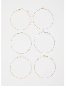 Metallic Hoop Earrings   Pack Of 3 by Torrid