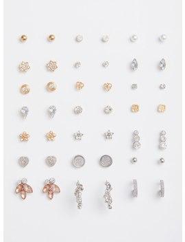 Multi Metallic Earrings   Set Of 21 by Torrid
