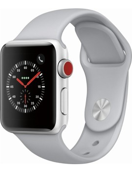 Apple Watch Series 3 (Gps + Cellular), 38mm Silver Aluminum Case With Fog Sport Band   Silver Aluminum (Unlocked) by Apple