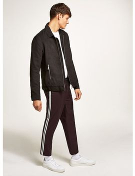Burgundy Side Taping Smart Joggers by Topman