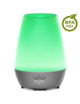 Mynt Essential Oil Diffuser Cool Mist 100ml Humidifier 10+ Hours With 7 Colors Led Lights Bpa Free Waterless Auto Shut Off For Home Office Bedroom Baby Room by Mynt