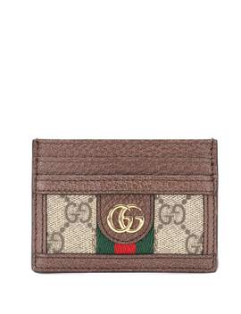 Logo Leather Card Holder by Gucci