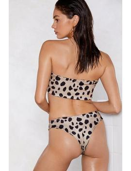Amigas Cheetahs Bandeau Bikini Set by Nasty Gal