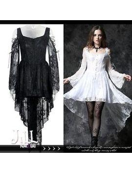 Goth Lolita Swan Bride Floral Lace Off Shoulder Dip Hem Cocktail Dress【Dw053】 by Ebay Seller