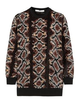 Sweater In Python Sequined Silk Chiffon by Givenchy