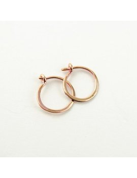 Tiny Rose Gold Hoop Earrings, Classic Rose Gold Hoops, Rose Gold Plated Wire, Minimalist Modern Jewelry, Hand Made, Gift For Her,  Ear001 by Etsy