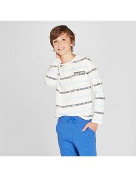 Boys' Long Sleeve T Shirt   Cat & Jack™ White by Cat & Jack™