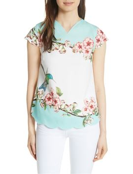 Elmy Nectar Scallop Edge Top by Ted Baker London
