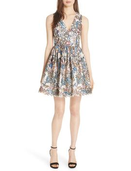 Becca Embroidered Fit & Flare Dress by Alice + Olivia