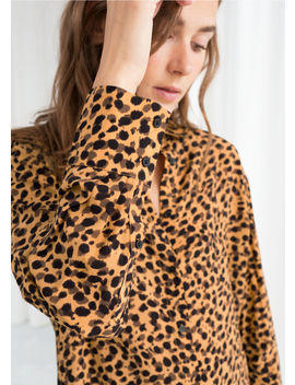 Leopard Print Button Down Shirt by & Other Stories