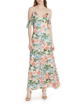 Alves Floral Cold Shoulder Maxi Dress by Alice + Olivia