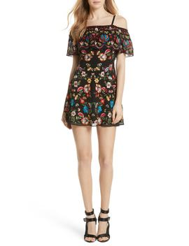 Francina Embroidered Off The Shoulder Minidress by Alice + Olivia