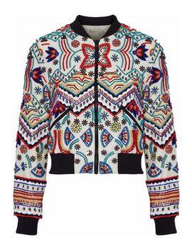 Embellished Embroidered Silk Jacket by Alice+Olivia