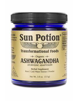 Ashwagandha Powder   Organic Root Herbal Extract And Supplement, Adaptogenic Herb   Healthy Aid For Stress Depression Anxiety Energy Liver Thyroid Adrenal  ... by Sun Potion