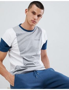 Nicce Union Panelled T Shirt by Nicce London