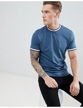 Asos Design T Shirt With Contrast Tipping by Asos Design