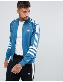 Adidas Originals Authentic Superstar Track Jacket In Blue Dj2857 by Adidas Originals