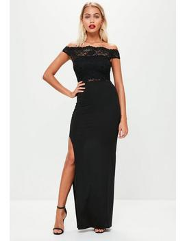 Black Slinky Ruched Maxi Skirt by Missguided