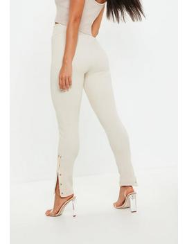 Sand Ribbed Joggers by Missguided