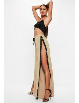 Tall Stone Popper Side Pants by Missguided