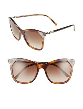 Heritage 54mm Square Sunglasses by Burberry