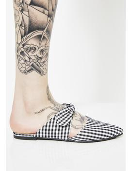 Don't Trip Gingham Flats by Chase Chloe