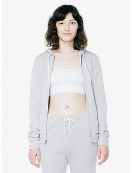 Unisex Tri Blend Terry Zip Hoodie by American Apparel