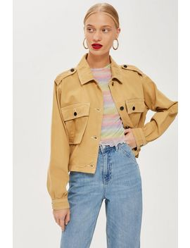Topstitch Camel Shacket by Topshop