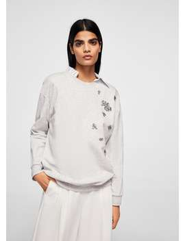 Sweat Shirt Perlé by Mango