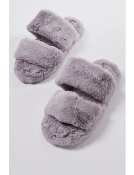 Double Strap Fluff Slipper by Cotton On