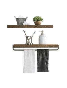 Del Hutson Designs True Floating Shelf And Towel Rack by Generic