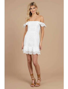 Finders Keepers Sundays White Strapless Mini Dress by Tobi
