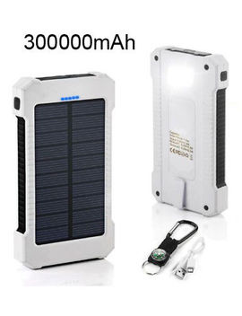 Waterproof 300000m Ah/1000<Wbr>0m Ah Dual Usb Portable Solar Battery Charger Power Bank by Floureon