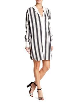 Boyfriend Stripe Shirt Dress by Kendall & Kylie