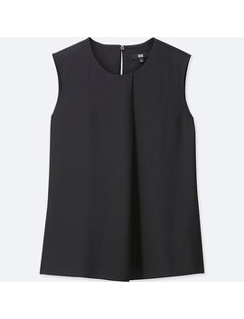 Damen Drape Bluse (Ärmellos) by Uniqlo