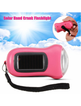 Camping Solar Powered 3 Led Flashlight Torch Hand Crank Dynamo Emergency Light by Unbranded/Generic