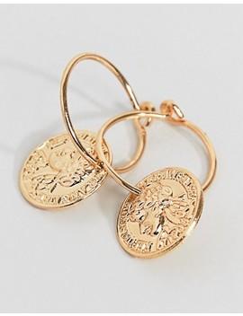 Liars & Lovers Coin Drop Hoop Mini Earrings by Liars & Lovers