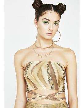 Slither Bandage Tube Top by American Deadstock