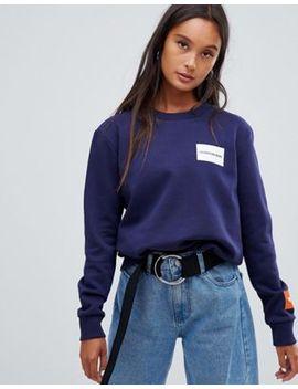 Calvin Klein Jeans Sweatshirt With Block Logo by Calvin Klein