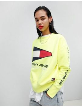 Tommy Jean 90s Capsule 5.0 Sailing Flag Logo Sweatshirt by Tommy Jeans Capsule