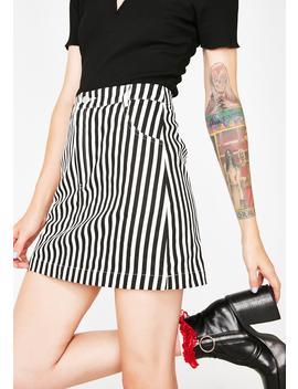 Jailbait Striped Mini Skirt by Emory Park