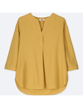 Damen Rayonbluse (3/4 Arm) by Uniqlo