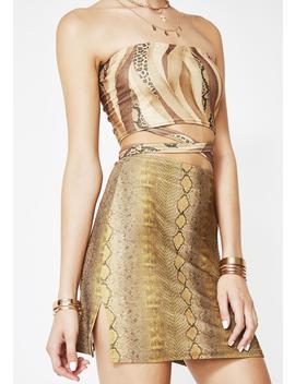 Gold Snake Skirt by American Deadstock