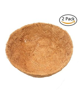 2 Pack Round Coco Fiber Replacement Liner Hanging Basket Liner 8 Inch by Hanobo