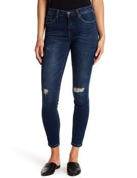 Ripped Midrise Skinny Jeans by Blanknyc