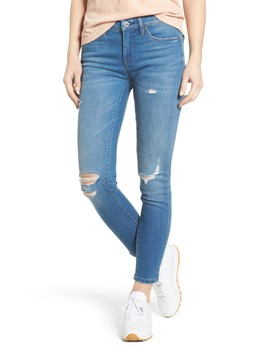 Ripped Ankle Skinny Jeans by Blanknyc