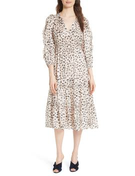 fantine-floral-cotton-&-silk-dress by ulla-johnson
