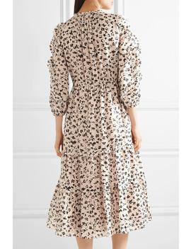 Fantine Ruffled Printed Cotton And Silk Blend Gauze Midi Dress by Ulla Johnson