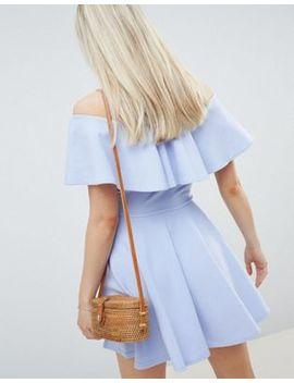 Lasula Tier Frill Bardot Dress by Lasula